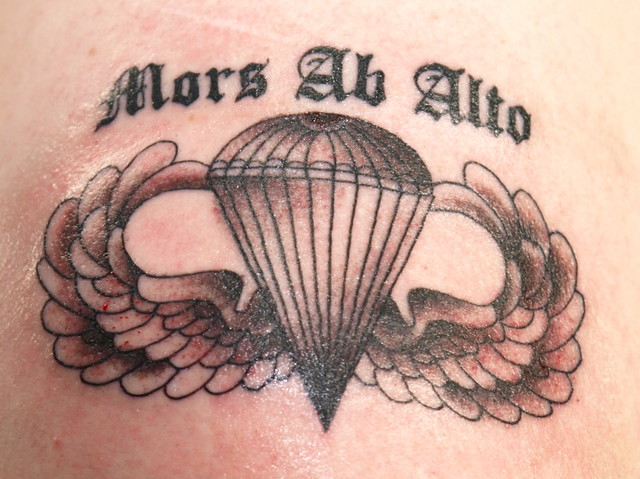 82nd Airborne Wings Tattoo