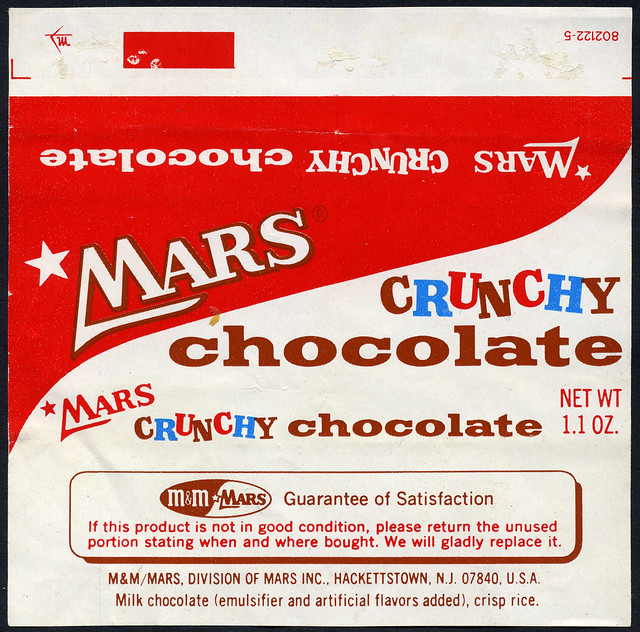 Mars Chocolate Wrappers
