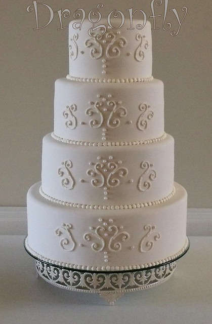 Scrollwork Wedding Cake Explore Signature Sugarart S