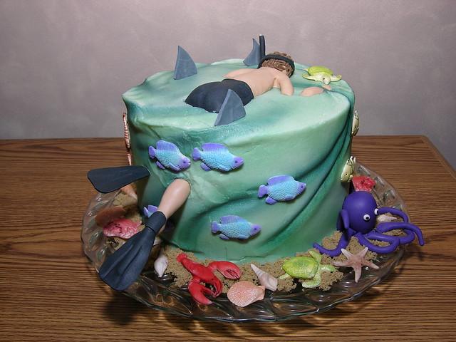 Snorkel Birthday Cake Flickr Photo Sharing