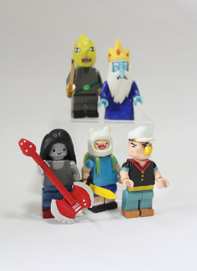 Custom Lego Minifigs    Sdoings For now here s Lego customs of Lemon Grab  Ice King  Marceline  Finn and  Popeye