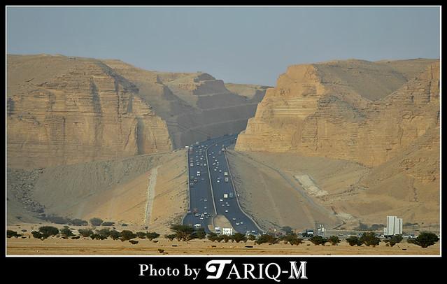 Riyadh To Makkah Road Through Tuwaiq Mountains Kingdoom