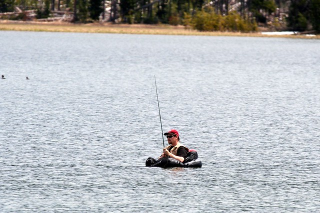 Fishing Flotation Device And Ice