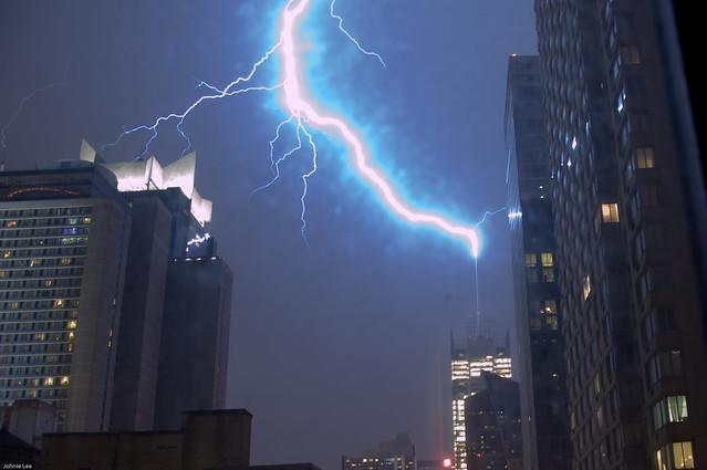 Lightning Strikes Ny Times Building Flickr Photo Sharing