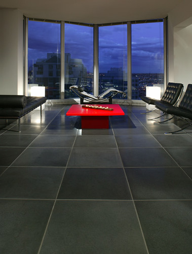 Cast Concrete 24x24 Floor Tile In Cinder Photo By Raef Gr