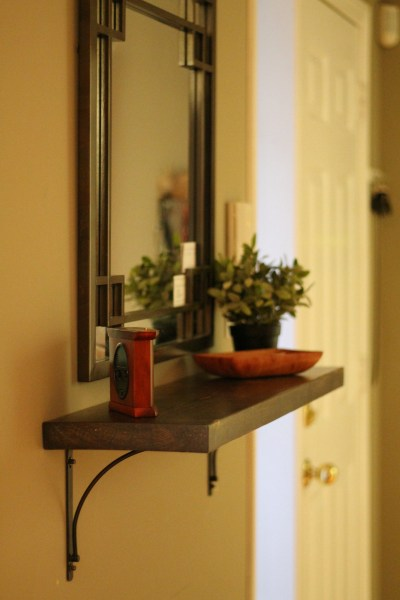 Turtles and Tails  Build Your Own Entryway Bench and Shelf DIY Entryway Shelf