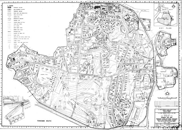 Yongsan Garrison Army Base Map