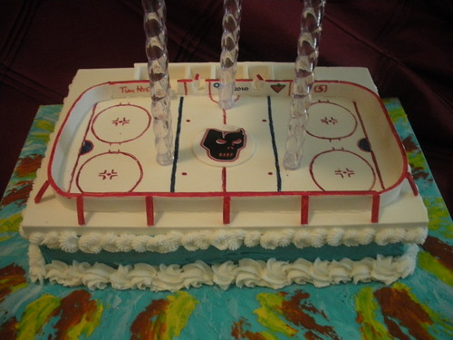 Ice Hockey Arena Cake By Wolfbay Cafe A More Detailed
