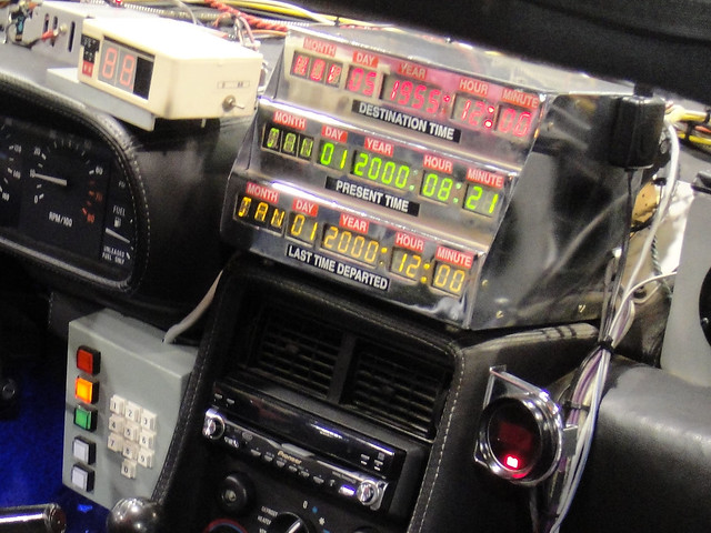 Back To The Future Delorean Dashboard Flickr Photo