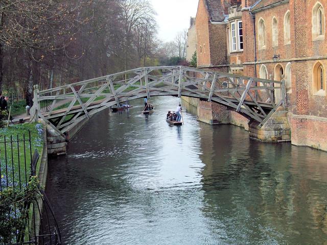 The Mathematical Bridge Over The River Cam Cambridge