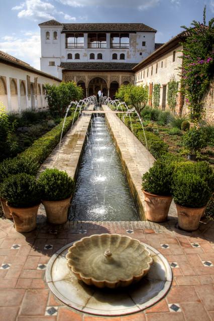 Patio De La Acequia Generalife Alhambra Patio De La