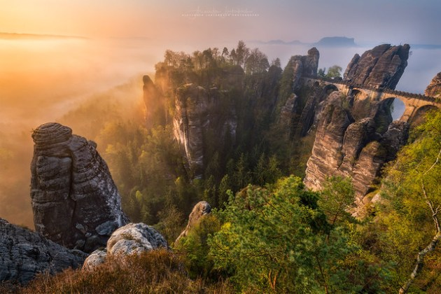 Top Landscape Photography of 2017   a gallery on Flickr Bastei Sunrise