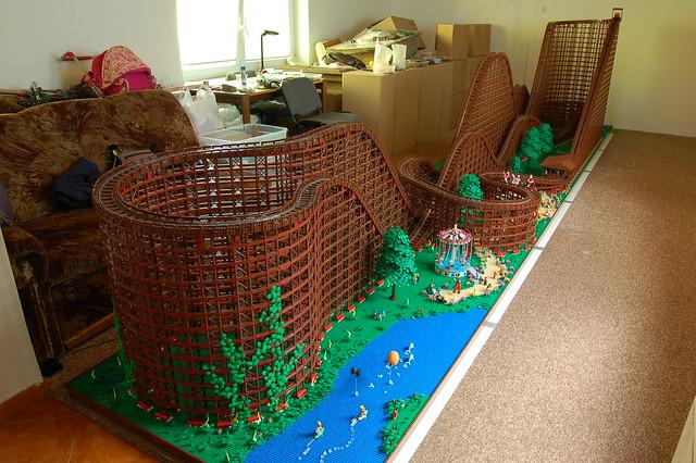 Lego Wooden Roller Coaster