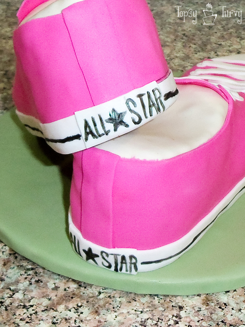 Converse Shoe Birthday Cake Ashlee Marie Real Fun With