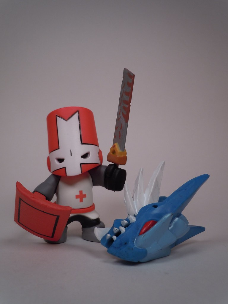 Knight Figure Castle Red Crashers