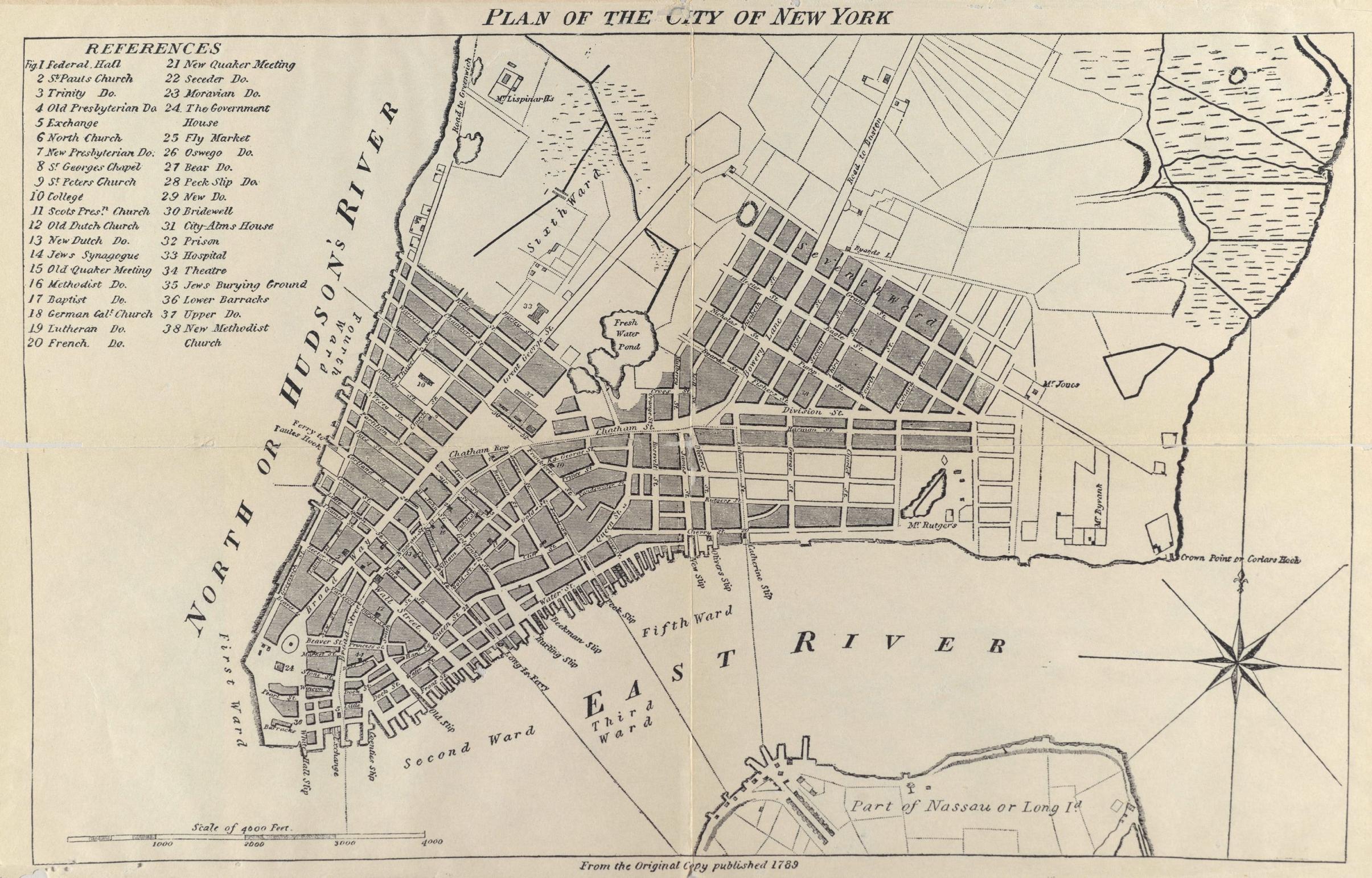 1789 Plan Of New York City Pub 1905 Flickr Photo
