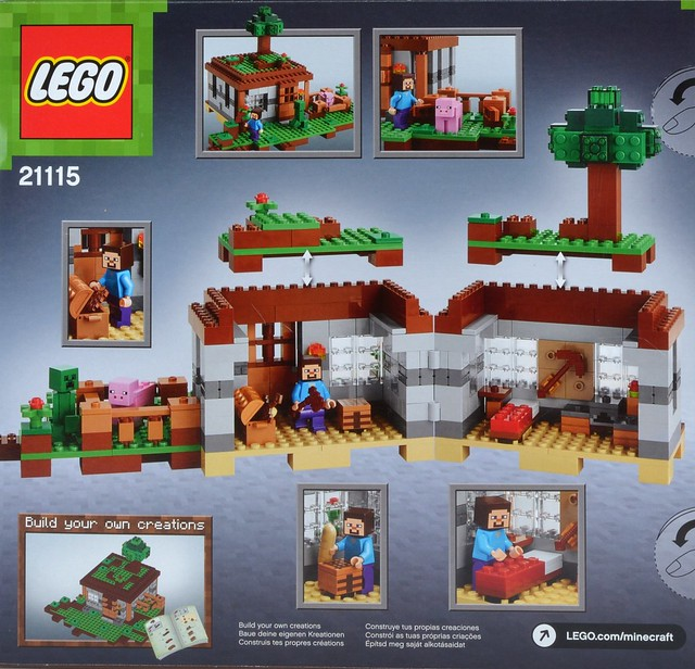 Review  Minecraft 21115 The First Night   Brickset  LEGO set guide     21115 The First Night
