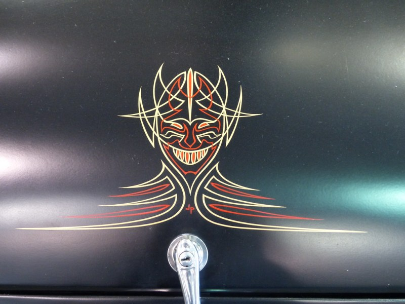 10 Simple Pinstriping Ideas You ve Never Thought Of   Cowles Products HotRod coupe pinstripe