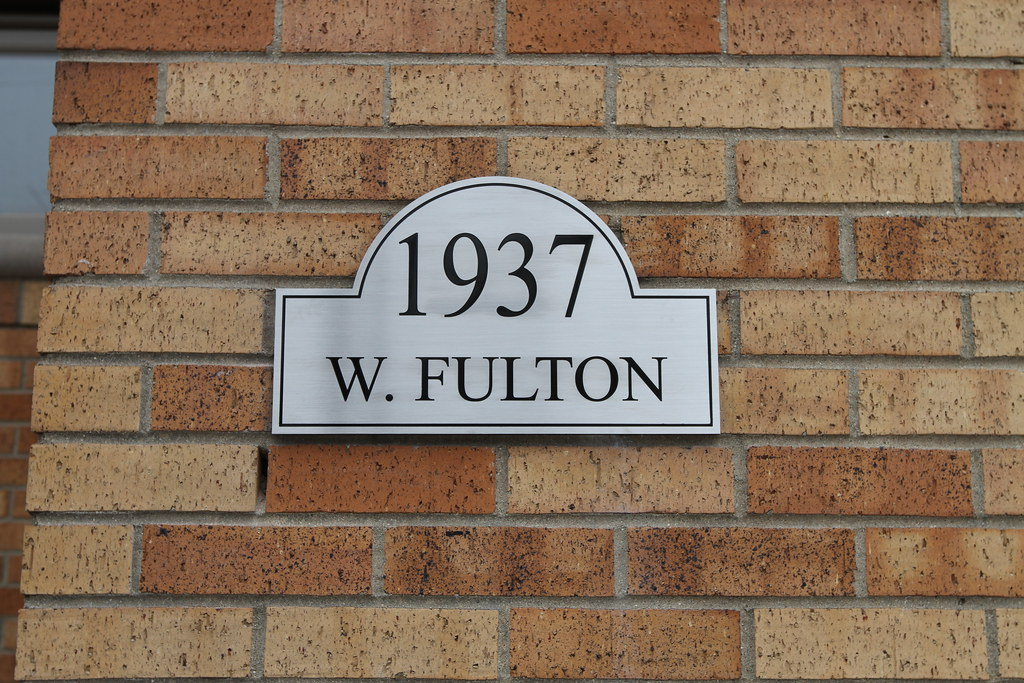 Address Plaques   Custom House Number Signs   Impact Signs Etched Stainless Steel Plaque