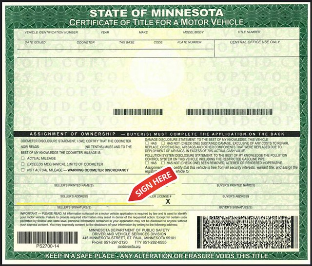 Minnesota vehicle registration card for Mn dept of motor vehicles driver s license