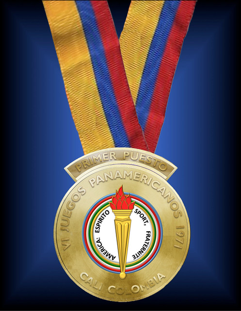 The Gold Medal Awarded At The 1971 6th Quadrennial Pan