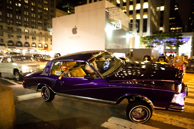 Lowrider with hydraulics, by the Apple Store on Fifth Aven ...