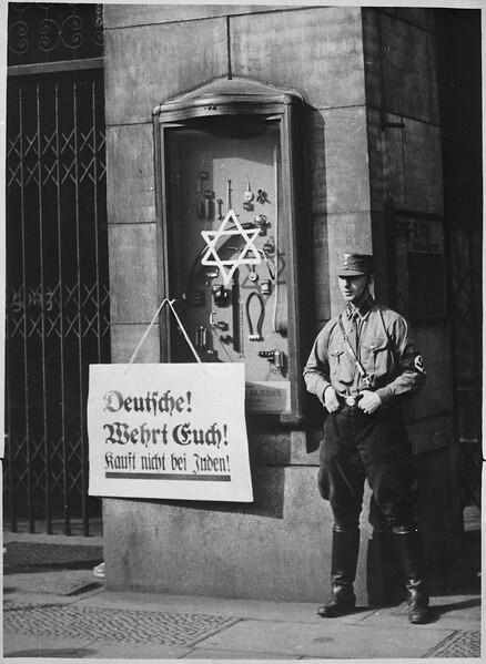 April 1 1933 Nazi Boycott Announced On April 1 1933 Hitle Flickr