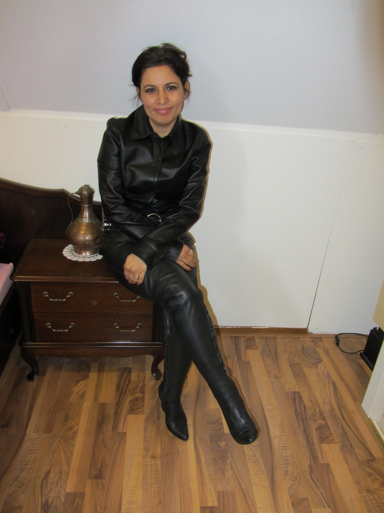 Long Shiny Leather Coat Flickr