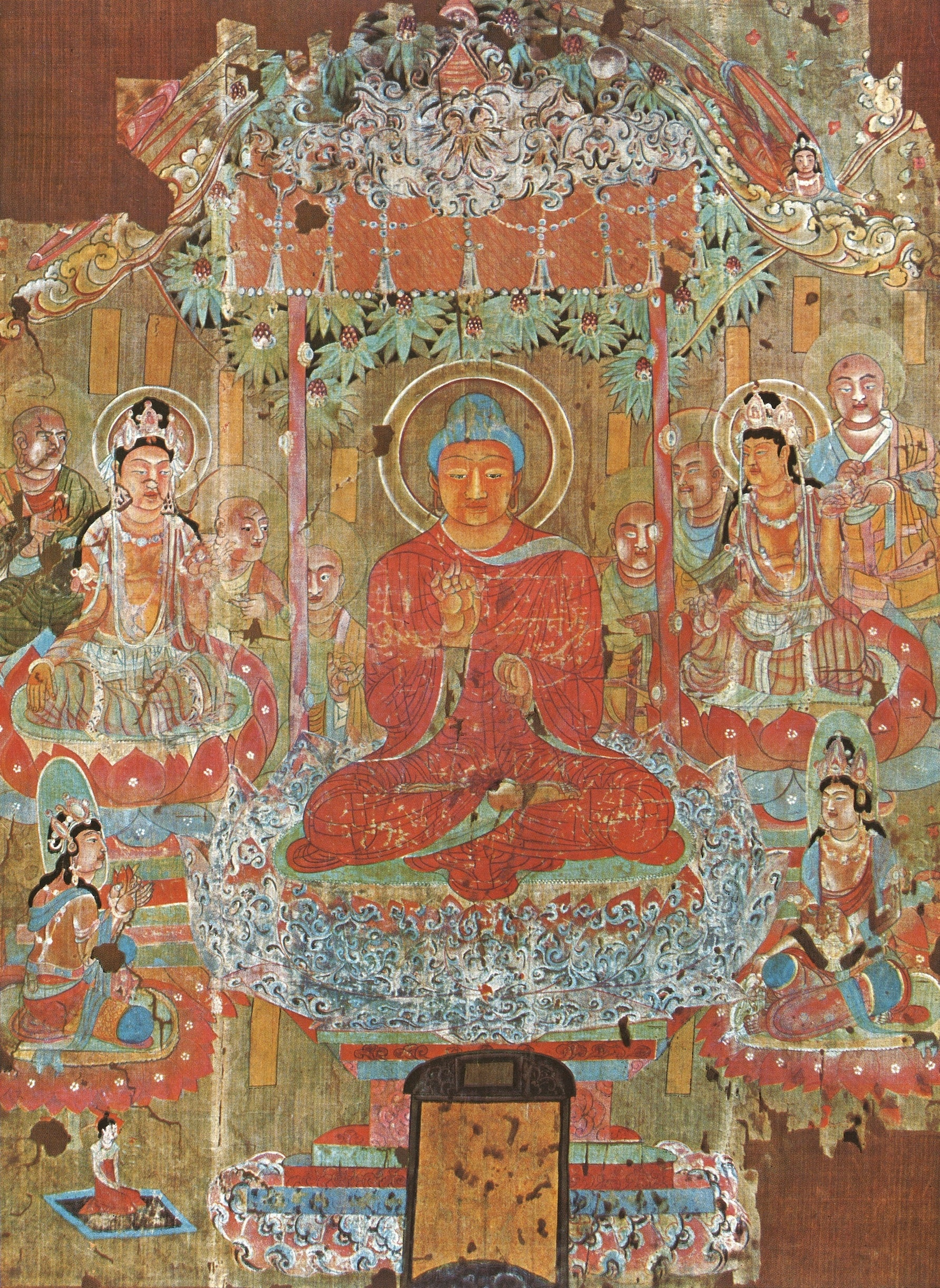 The Paradise Of Amitabha Buddha China Probably 8th