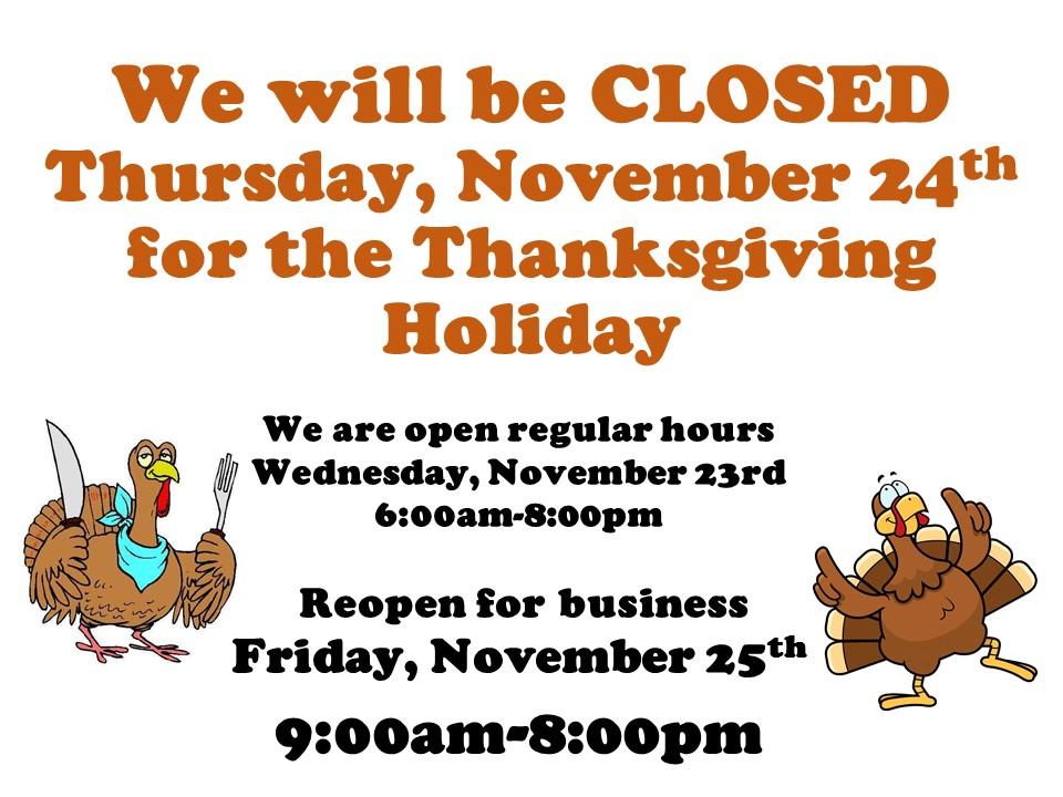 Fresh Market Thanksgiving Store Hours