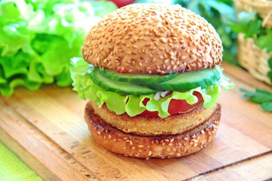 Burger με φωτογραφίες γαρίδας