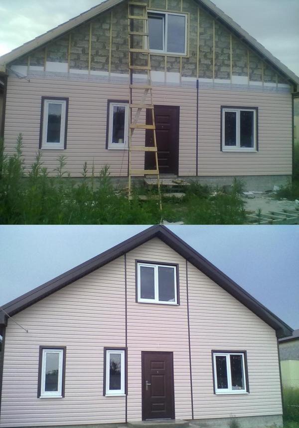 خانه ساخته شده از بلوک خاک رس با بیرونی