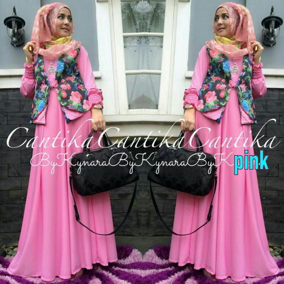 30 Model Baju Gamis Batik Pakai Rompi Fashion Modern Dan Terbaru