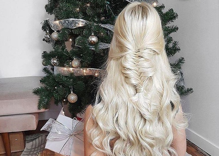 Fun Winter Half-Up Half-Down Hairstyles