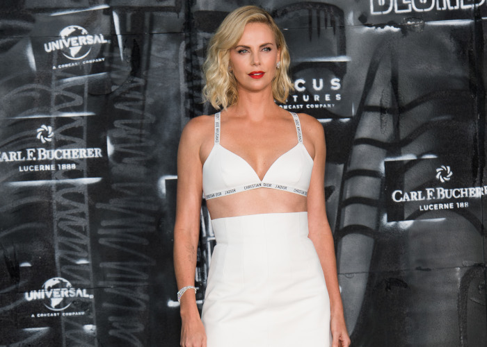 15-Times-Celebbrities-Wore-Lingerie-as-Clothing-Charlize-Theron