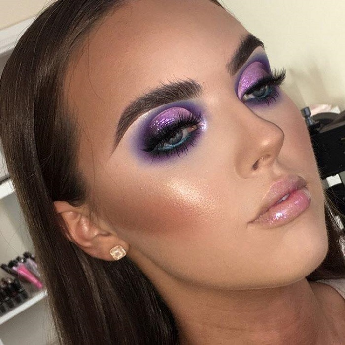 Fabulous-Full-Glam-Makeup-Looks-To-Flaunt-This-Fall-purple eyeshadow