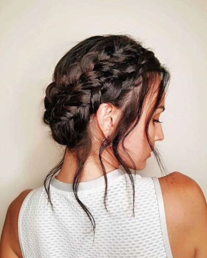 100-Trendy-Long-Hairstyles-For-Women-To-Try-in-2019 braided updo