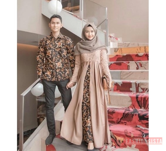 Model Baju Batik Gaun Couple 14