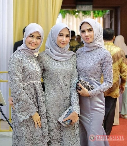 Model Baju Brokat Warna Abu 19