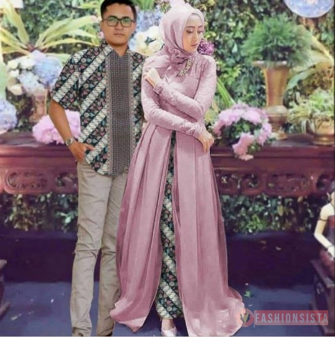 Model Dress Brokat Panjang Terbaru 13