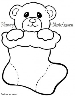 christmas stockings coloring pages # 24