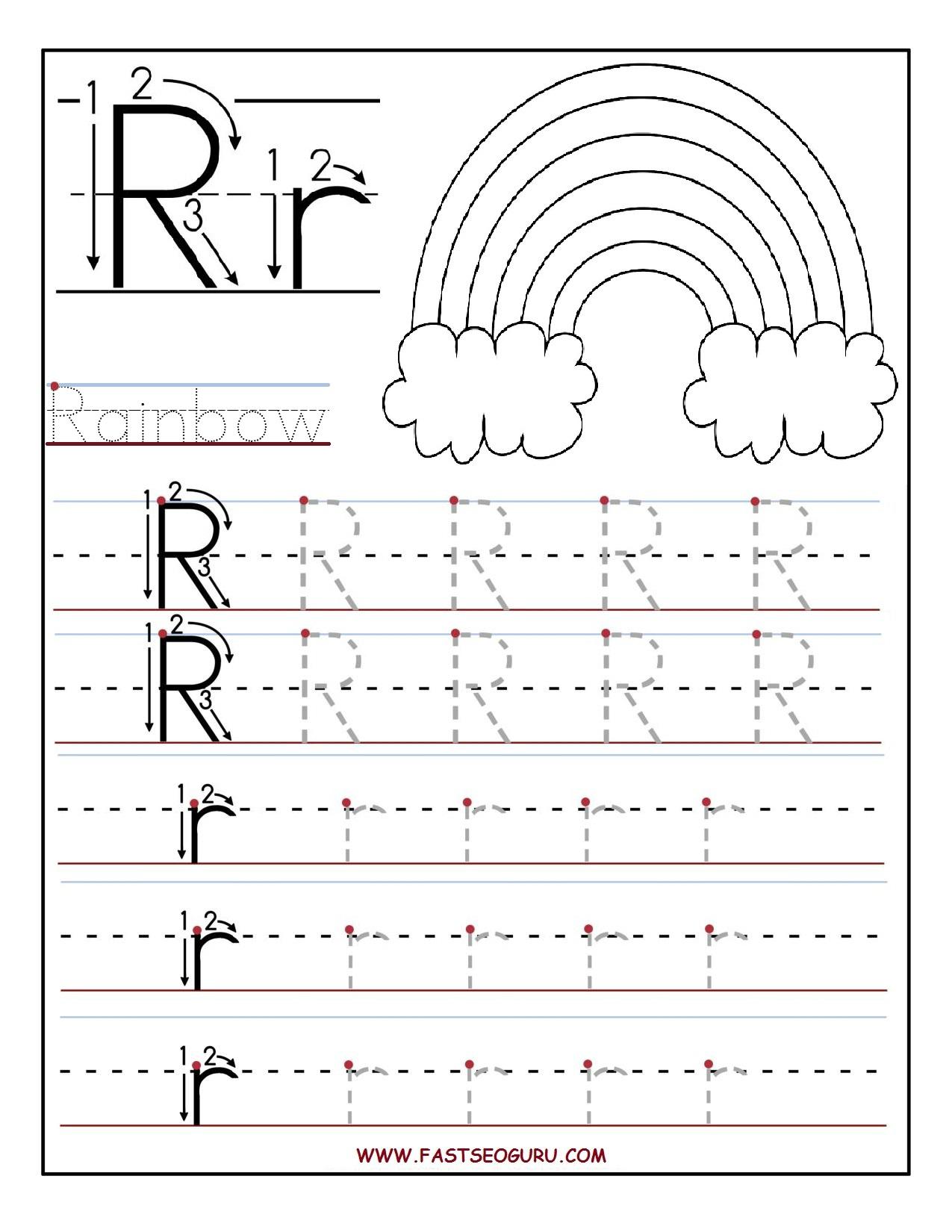 Pr T Ble Letter R Tr C G W Ksheets Preschool
