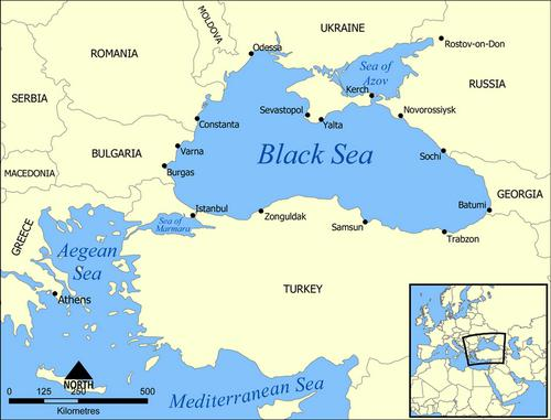 map of the coast of the sea of ​​azov ukraine
