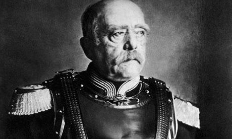 Proclamation of Wilhelm I by the German emperor. Bismarck - in white uniform. (Wikimedia.org)