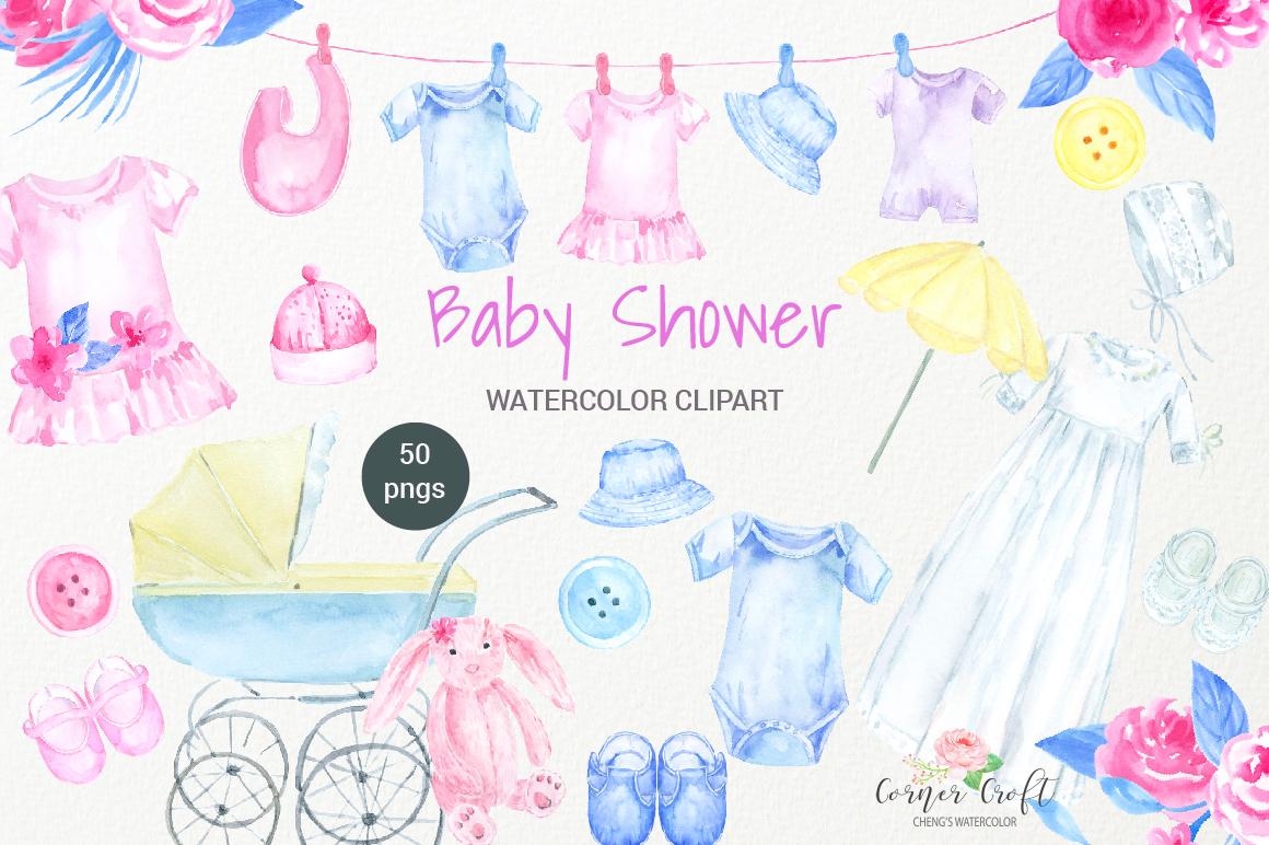 Pink Baby Shower Clip Art