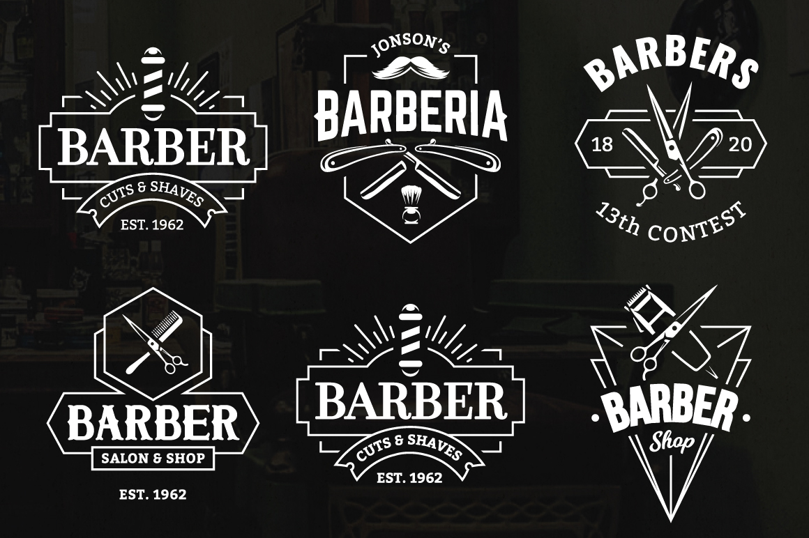 barber logo template - HD 1160×772