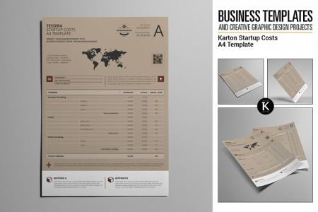 Karton Startup Costs A4 Template Viewing Product  Karton Startup Costs A4 Template