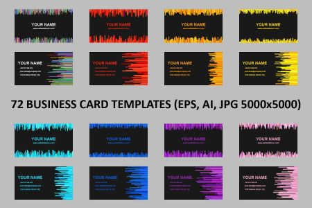72 Business Card Templates  AI  EPS  JP   Design Bundles 72 Business Card Templates  AI  EPS  JPG 5000x5000  example image