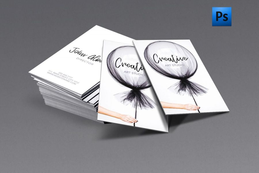 New fashion art creative business card   Design Bundles New fashion art creative business card example image