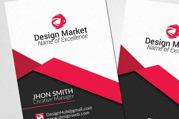 Grabs Full Pixels » Vertical Business Cards Psd Templates b   Design Bundles Vertical Business Cards Psd Templates example image